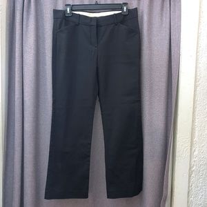 Theory Pants - Theory Stretch Black Cotton Trousers Pants